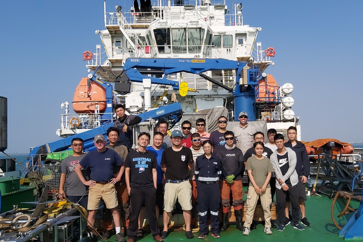 Associate Professor Linus Yung-Sheng Chiu completed survey on underwater sound propagation with WHOI in South China Sea