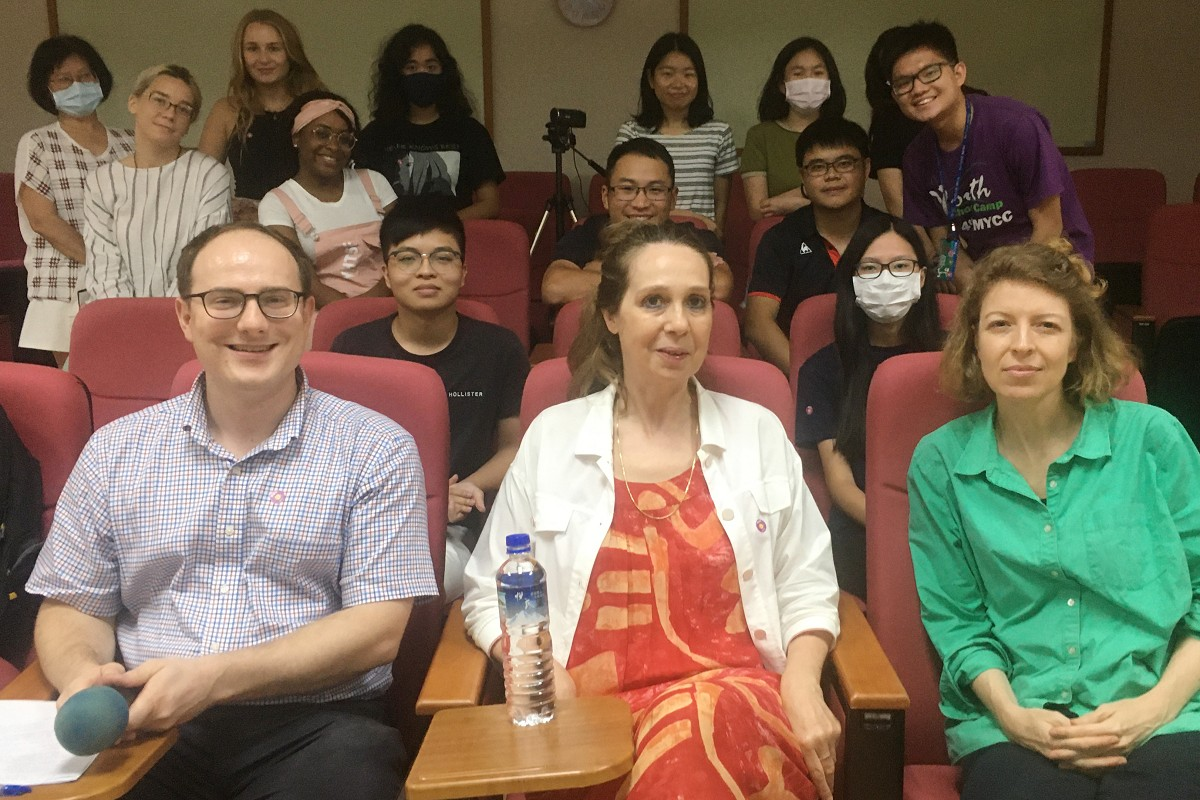 International                   and Taiwanese students discover Taiwan through literature