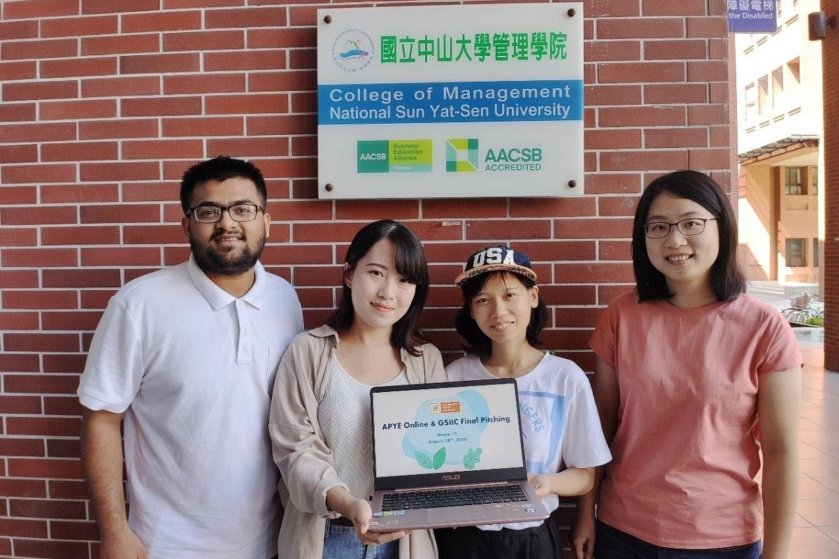 NSYSU                   team win Asia Pacific Youth Exchange Online & Global                  Social Innovation Idea Competition